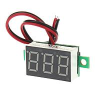 """V20D 0.56 """"LED İki Satır 3-Dijital Doğru Akım Voltmetre Meter Modülü - Beyaz + Yeşil (DC 2.5 ~ 30V)"""