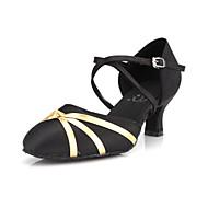 Dame Moderne Ballett Sateng Sandaler Høye hæler Spenne Stiletthæl Svart 6,5 cm Kan ikke spesialtilpasses