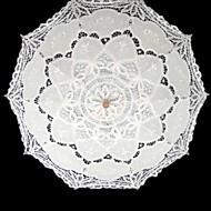 "billiga Brudparaplyer-Posthandtag Spets Bröllop Maskerad Paraply Paraplyer 37.8""(ca. 96cm)"