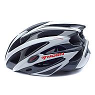 MOON Voksen Bike Helmet 25 Ventiler CE Nedslags Resistent EPS, PC Sport Vej Cykling / Cykling / Cykel / Mountain Bike - Sort / Hvid Herre / Dame