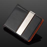 osobní dar stříbrný kov a PU kůže kov peníze klip (do 10 znaků)