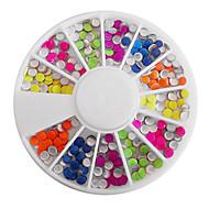 Gemengde Candy Kleur Fluorescentie Ronde Nail Art Decorations