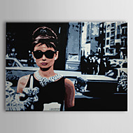 cheap Prints-Stretched Canvas Print People Pop Art Travel One Panel Horizontal Print Wall Decor Home Decoration