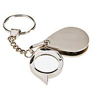 5X Mini přenosný skládací očí Zvětšovací sklo Nerezová ocel lupa Keychain