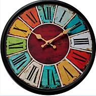 levne Rustikální Nástěnné hodiny-retro Dřevo Kulatý Vevnitř,AA