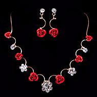 Parure de Bijoux Femme Argent Rouge Comprend Parure de Bijoux pour Mariage Soirée Occasion spéciale Anniversaire Fiançailles / Cadeau