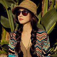 Žene Jednobojni Ležerne prilike Ljeto Slama Slamnati šešir Deva