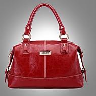 tanie Torby tote-Erlen Moda damska Europejski Styl Simple Business materiałowa / jedno ramię / Crossbody Bag (Wine)