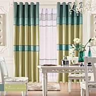 billige Vindusbehandling-gardiner gardiner Stue Stribe Lin / Polyester Blanding Mønstret