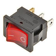 interruptor basculante de 3 pinos de ligar / desligar (vermelho&preto, 6a, ac 250v / 10a, ac 125V)