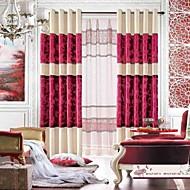 billige Gardiner-ett par moderne chenille og jacquard fløyel gardin panel med ren sett
