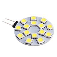 baratos Luzes LED de Dois Pinos-480 lm G4 Lâmpadas de Foco de LED 15 leds SMD 5050 Branco Quente Branco Frio DC 12V