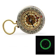 "G50B 1.5 ""Glow-in-the Dark-Compass aço inoxidável w / Amortecimento Oil - Golden"