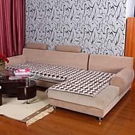 billige Overtrekk-elaine bomull kf sjekk mønster bordure kaffe sofa pute 333670