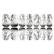 12 pcs Körömfestés tippek 3D-s körömmatricák köröm művészet manikűr Pedikűr Napi Rajzfilmfigura / Divat / 3D-s körömáblák / ABS