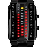 SKMEI 남성용 회중 시계 디지털 LED 달력 방수 합금 밴드 럭셔리 블랙 실버