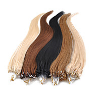 18inch 1pcs laços micro anéis pérolas derrubado extensões de cabelo retas mais luz cores 100s / 0,5 g pake / s