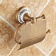 preiswerte Produkte für das Badezimmer-WC-Rollenhalter Gute Qualität Antike Messing Keramik 1 Stück - Hotelbad