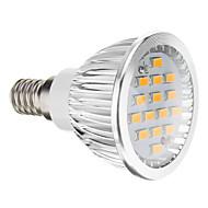 E14 GU10 GU5.3(MR16) E26/E27 LEDスポットライト 15 LEDの SMD 5730 温白色 クールホワイト 380lm 2700-3500K AC 100-240V