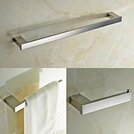 preiswerte Badezimmer Zubehör Set-Bad Zubehör-Set Gute Qualität Moderne Edelstahl 3 Stück - Hotelbad Turm Bar Toilettenpapierhalter