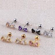 Dámské Tělové ozdoby Piercing do ucha Nerez Zirkon imitace Diamond Módní Šperky Denní Ležérní Vánoční dárky
