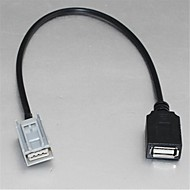 billiga Bilstereo-USB Female Cable Adapter för Honda Civic Jazz Fit CRV CRZ Accord till USB Flash Drive MP3 Ipod