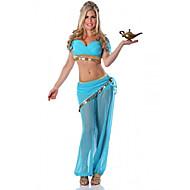 Prinsesse Eventyr Cosplay Kostumer Festkostume Dame Halloween Karneval Festival / Højtider Halloween Kostumer Udklædning Blå Ensfarvet