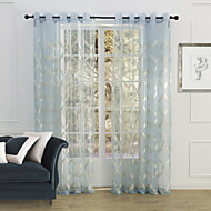 To paneler Window Treatment Land Soverom Polyester Materiale Gardiner Skygge Hjem Dekor For Vindu
