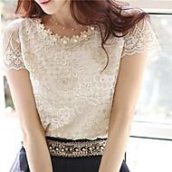 cheap -Women's Plus Size Blouse - Jacquard, Lace Beaded