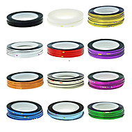 halpa -1PCS Striping Tape Line Nail Stripe Tape Nail Art Decoration tarra (valikoituja väri)