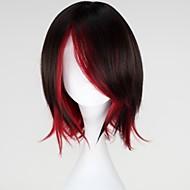 Cosplay Wigs RWBY Ruby Crna / Crvena Short Anime Cosplay Wigs 35 CM Otporna na toplinu vlakna Female