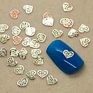 200pcs içi boş kalp şeklinde dilim metal çivi sanat dekorasyon