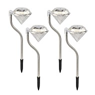 ソーラーダイヤモンド芝生ライト経路ガーデンステークランプを交換する4 1 - LEDの色のセット