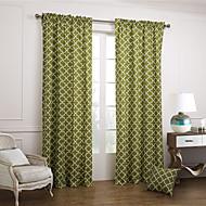 To paneler Window Treatment Moderne Soverom Bomull Materiale gardiner gardiner Hjem Dekor For Vindu