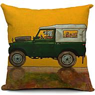 sarjakuva hauska koira kuljettaja puuvilla / pellava koriste tyyny