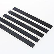 GDW az13 40 pólusú 2.54mm pitch tüskesorok - fekete (5 db)