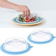billige Eggeverktøy-plate topper silikon med sugekopper ferskhet lokk tilfeldig farge 20x20x8.5cm
