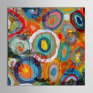 baratos -Pintura a Óleo Pintados à mão - Abstrato Contemprâneo Tela de pintura