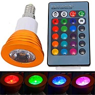 billige Spotlys med LED-YWXLIGHT® 250-300 lm E14 LED-spotpærer 1 leds Høyeffekts-LED Fjernstyrt RGB AC 85-265V