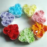 6 creative romantice în formă de inimă trandafir săpun flori (culoare aleatoare)