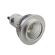 gu10 led spotlight 1 cob 400-450lm naturlig hvit 4000-4500k dimbar ac 110-130v