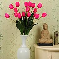billige Kunstige blomster-høy kvalitet tre store blader tulipan simulering blomster