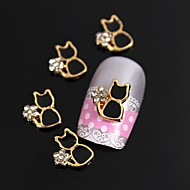 10pcs altın metal siyah kedi taklidi 3d alaşım çivi sanat dekorasyon kaplama
