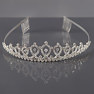cheap Headpieces-Alloy Tiaras Headwear with Floral 1pc Wedding Special Occasion Headpiece