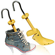 baratos Acessórios de Sapatos-2pçs Madeira Formas e Alargadores de Sapato Unisexo Todas as Estações Casual