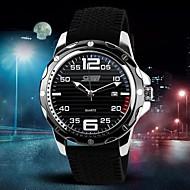 Pánské Křemenný Japonské Quartz Sportovní hodinky Kalendář Silikon Kapela Přívěšky Černá