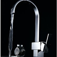 Modern Tall / High Arc Inbouw Waterval with  Keramische ventiel Single Handle Een Hole for  Chroom , Keuken Kraan