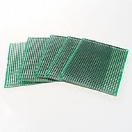 5 x 7 סנטימטר protoboard-צדדי כפול PCB המגרש 2.54mm - ירוק (5pcs)