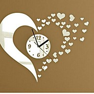 billige Veggklokker-Wall Clock Stickers Wall Decals, Fashion 3D Heart Mirror Acrylic Wall Stickers