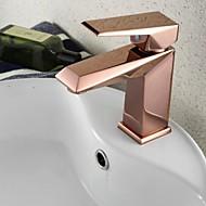 Nykyaikainen Integroitu Pyörivä with  Keraaminen venttiili Yksi reikä Yksi kahva yksi reikä for  Ruusukulta , Kylpyhuone Sink hana